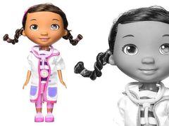 Кукла Дотти с розовым чемоданом из серии Доктор Плюшева