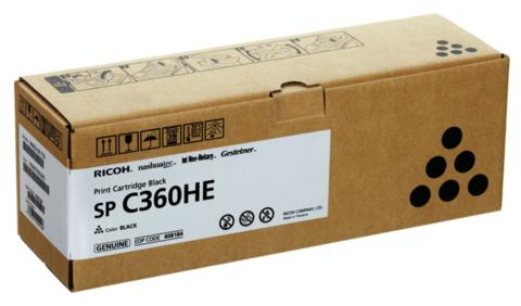 Принт-картридж Ricoh SP C360HE, черный. Ресурс 7000  стр. (408184)