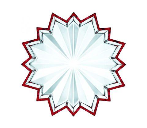 Блюдо звезда с красной окантовкой, артикул 73558. Серия Crystal Christmas