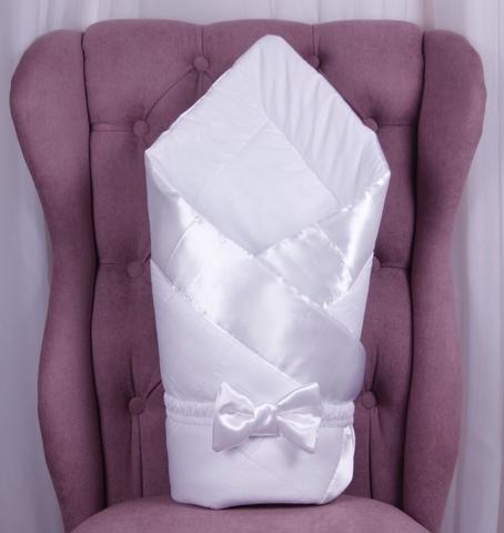 Конверт одеяло для новорожденных Beauty белый