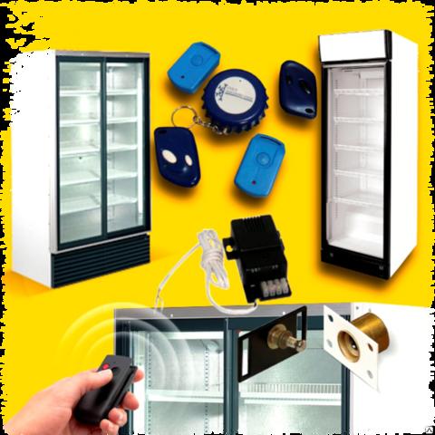 Установка электромагнитных замков на торговые двухдверные холодильники