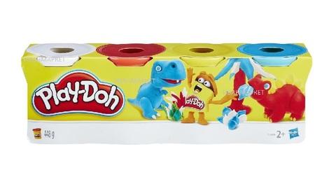 Пластилин Play-Doh 4 баночки.