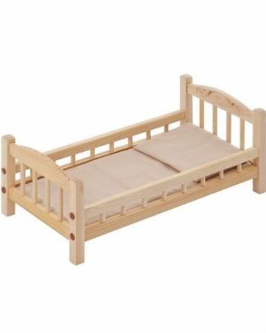 Классическая кроватка для кукол Paremo бежевый текстиль PFD116-01