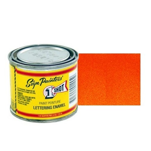 900-P Эмаль для пинстрайпинга 1 Shot Перламутровый красно-оранжевый (Vermillion), 236 мл