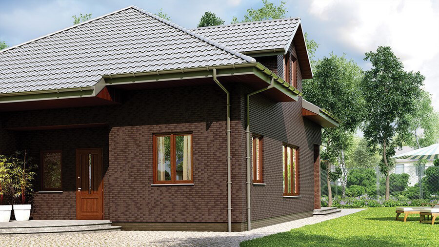 Фасадная плитка King Klinker, Mahogany dream (15), Dream House, 65x250x10, RF