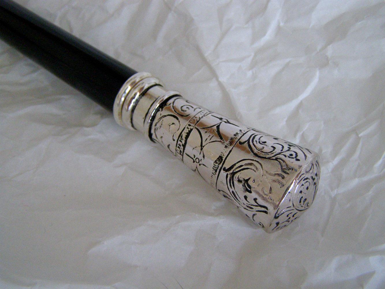 Pasotti мужской зонт-трость с серебряной ручкой, дизайн с элементами морской тематики