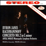 Byron Janis, Antal Dorati, Minneapolis Symphony Orchestra / Rachmaninoff, Concerto No. 2 In C Minor, Preludes Op. 23 No. 6 & Op. 3 No. 2 (LP)