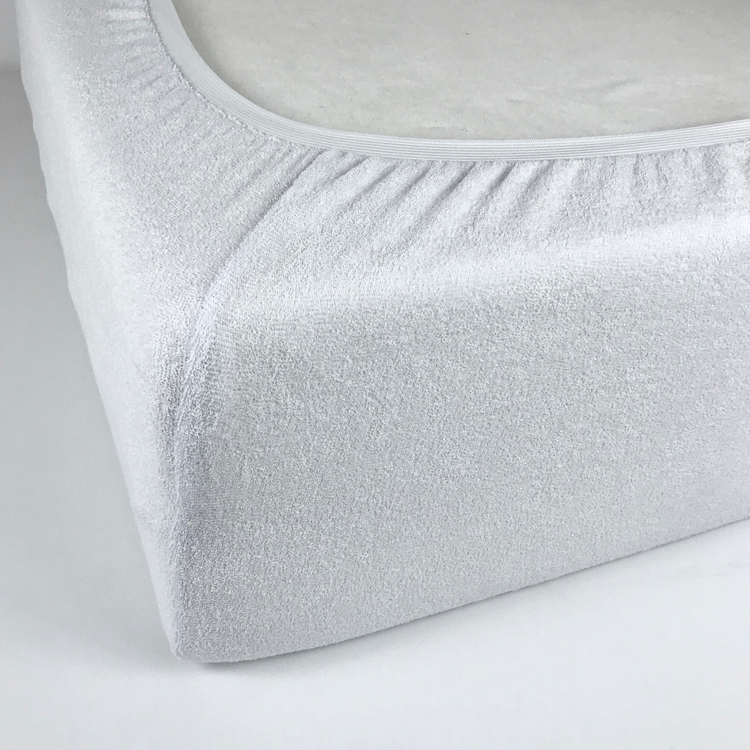 STANDART - Односпальная махровая простыня на резинке 90х190