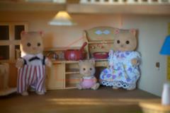 Комплект Большой дом со светом Sylvanian families 2752 и мебель Happy family