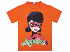 BK002F-20 футболка для девочек, оранжевая