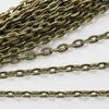 Цепь (цвет - античная бронза) 5х3 мм, примерно 10 м