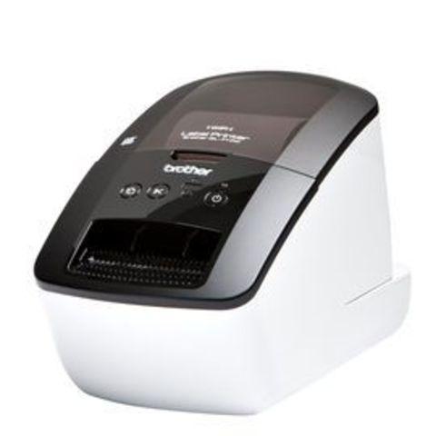 Принтер для печати наклеек Brother QL-710W (авторезак, ширина лент до 62мм, до 93 наклеек/мин, 110мм/сек, 300 т/д, ленты DK, WiFi, USB) - QL710WR1
