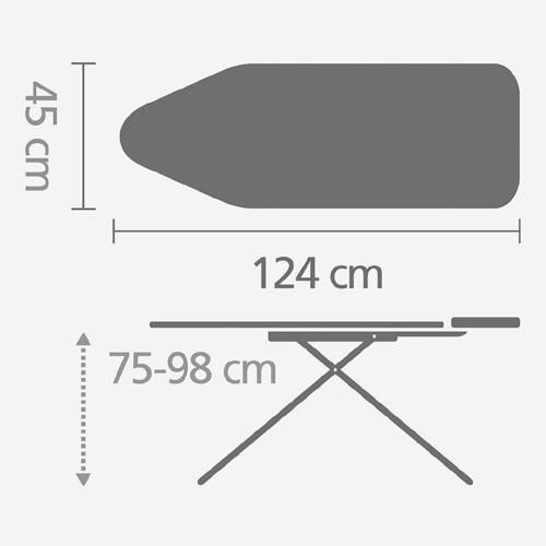 Гладильная доска 124х45 см (С), Конфетти, арт. 126123 - фото 1