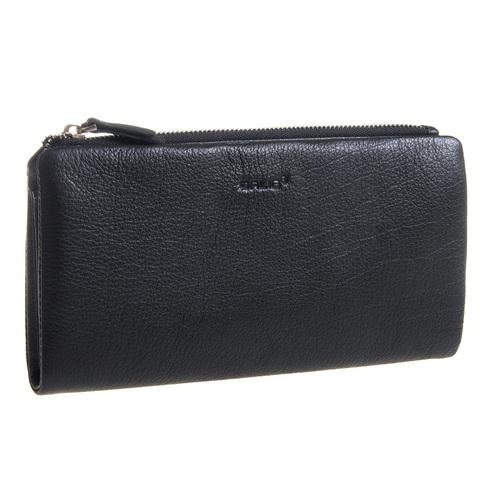 Мужской чёрный клатч портмоне из натуральной кожи GALIB 7M235