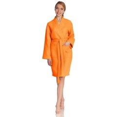 Халат вафельный Vossen Rom orange
