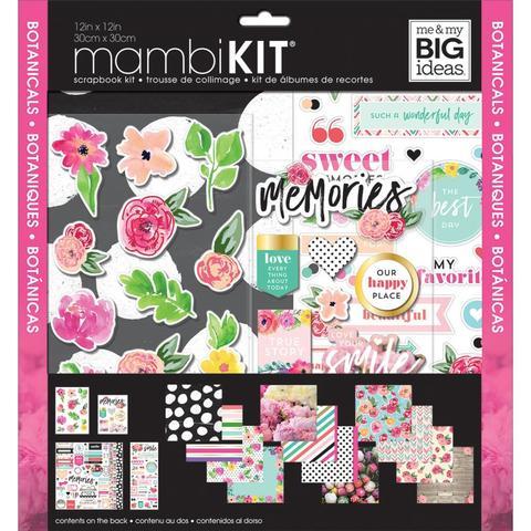 Набор бумаги с украшениями Me & My Big Ideas Page Kit- 30х30см -Botanicals