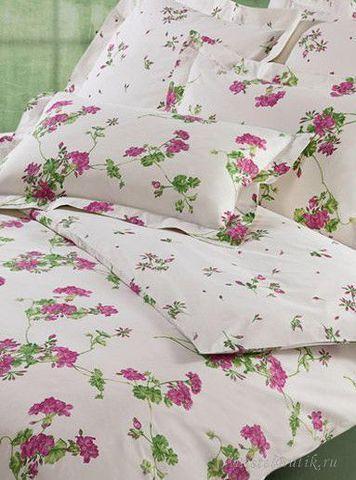 Постельное белье 2 спальное евро Mirabello Gerani розовое