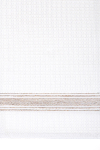 Набор полотенец 2 шт Luxberry Sandwich белый/натуральный