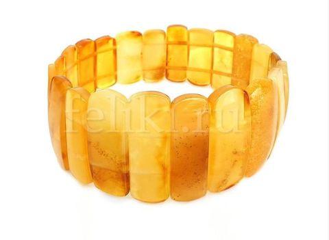 браслет из натурального жёлтого янтаря_фото