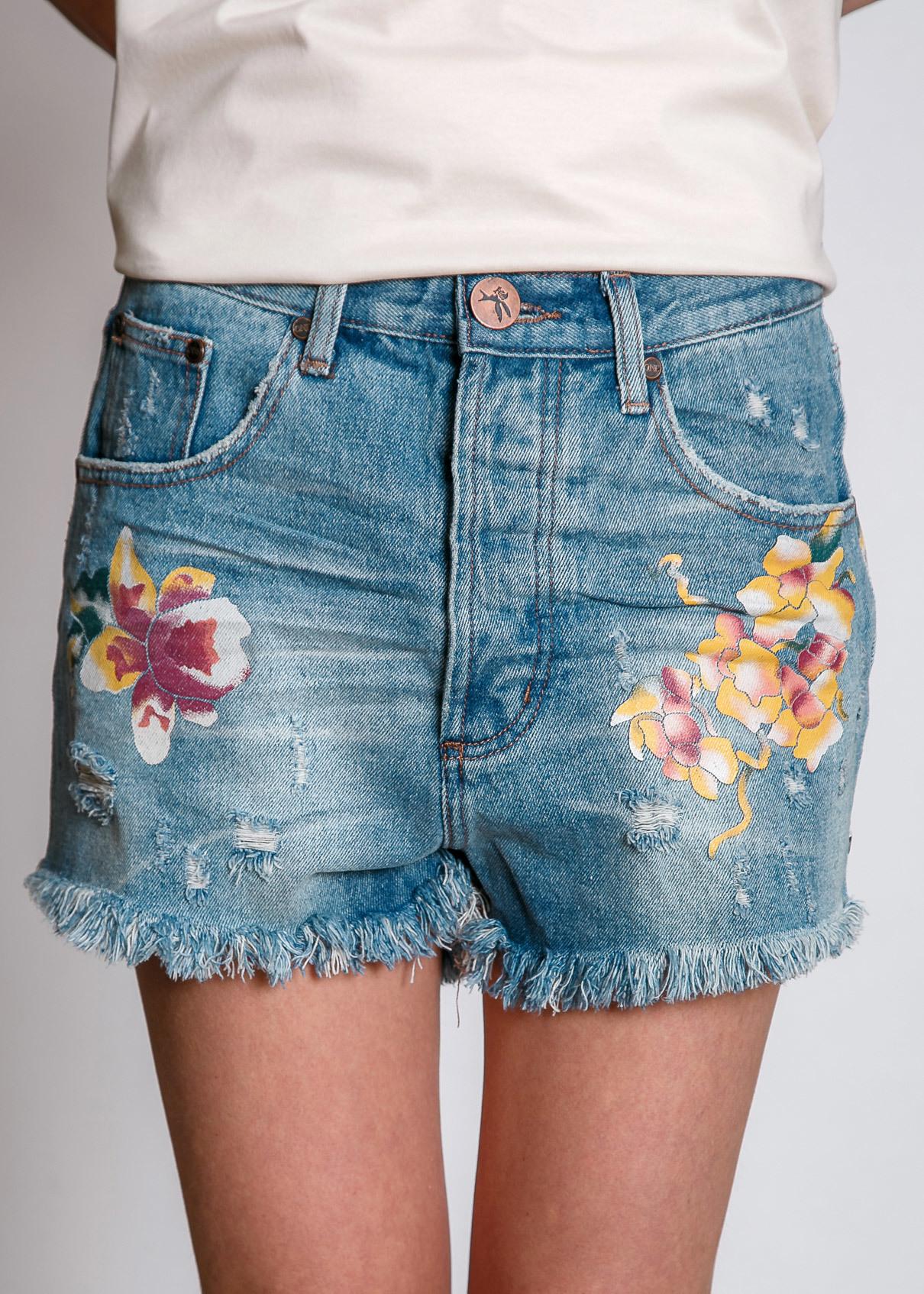 Шорты джинсовые ONE TEASPOON