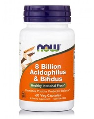 NOW 8 Billion Acidophilus and Bifidus (60 caps.)