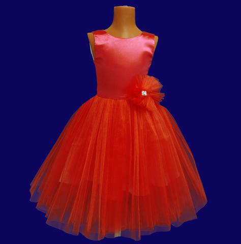 Платье пышное красное для малышек