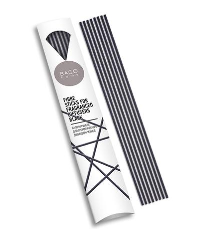 Палочки для ароматического диффузора фибра 20 см черные, Bago home