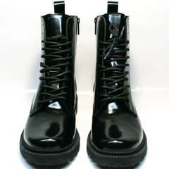 Черные женские ботинки на шнурках зимние Ari Andano 740 All Black.