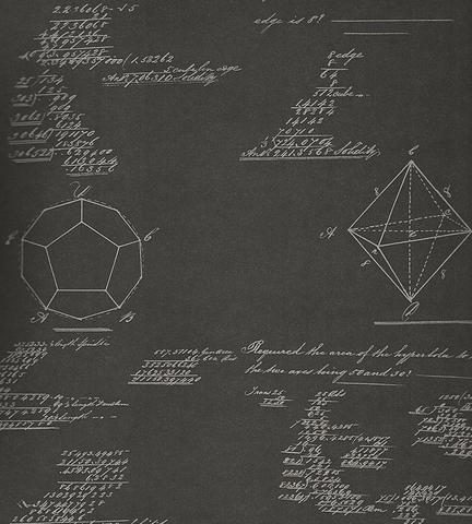 Обои Andrew Martin Navigator Pythagoras Charcoal, интернет магазин Волео