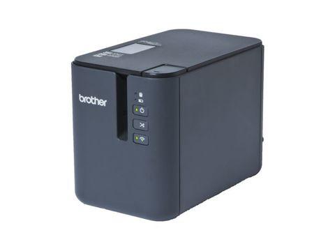 Принтер для печати наклеек Brother PT-P900W - настольный, авторезак, ленты от 3,5 до 36 мм, до 60 мм/сек, до 360x720dpi, Wi-Fi, БП, USB, RS232