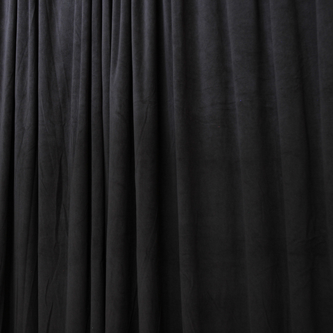 Бархат театральный негорючий черный, ш - 140 см., 330 гр./м2. арт. BTVN/9/000781