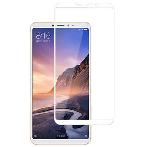 Защитное стекло 5D для Xiaomi Mi Max 3, белое