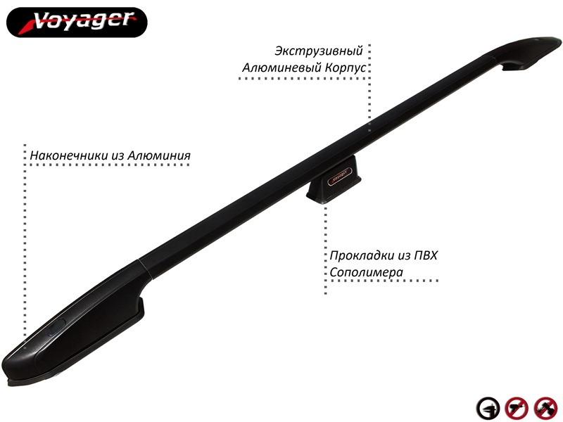 Рейлинги на крышу Voyager Alum Black - рейлинги на крышу Citroen Berlingo 2 aluminyum_bagaj_siyah2.jpg