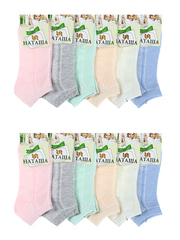 6730 Наташа носки женские 37-41 (12 шт.) цветные