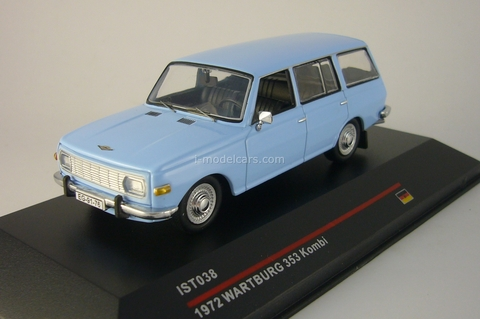 Wartburg 353 Kombi (old grill) light blue 1972 IST038 IST Models 1:43