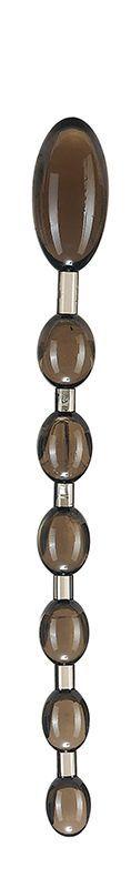 Анальные шарики, цепочки: Дымчатая анальная цепочка ANAL ROD - 27,4 см.