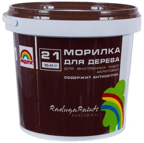 Морилка Радуга 21 для дерева  акриловая, прозрачная, содержит антисептик для внутренних работ вд-ак 21 цвет сосна  1кг