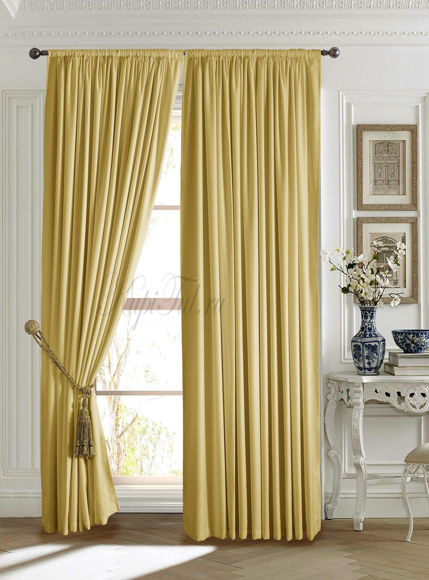 Длинные шторы. Mild (жёлтый).
