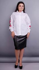 Юсмина. Стильная блуза плюс сайз. Белый.