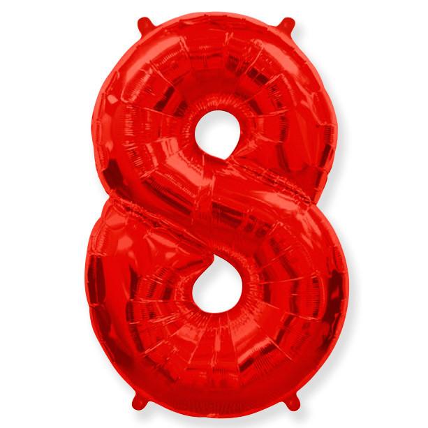 Шары цифры Шар цифра 8 Красная 0i-00015773.jpg