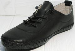 Женские мокасины черные Evromoda 115 Black