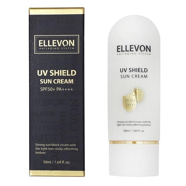 Крем солнцезащитный SPF50+ PA++++ Ellevon UV Shield Sun Cream 50мл