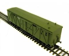 4-осный крытый временно багажный вагон мод. 11-38, зелёный, с бортовым №250, г.п. 16т.