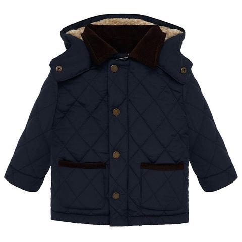 Куртка-парка Mayoral Темно-синяя стеганая Еврозима