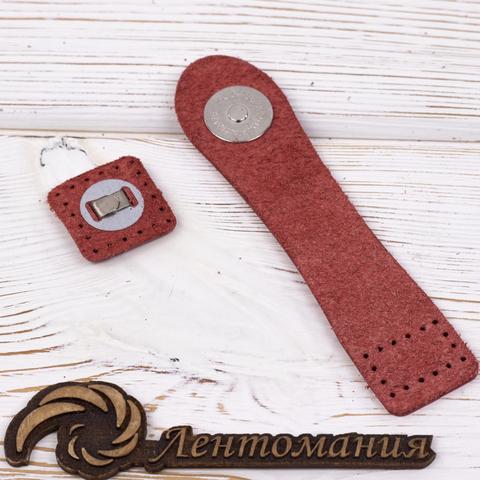 """Застежка для сумки """"Красный"""" с магнитной кнопкой"""