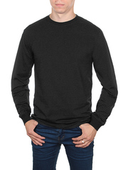 6148-1 Футболка мужская с длин. рукавом, черная