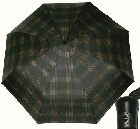 Купить онлайн Зонт складной Maison Perletti 16215-brown- Scottish в магазине Зонтофф.