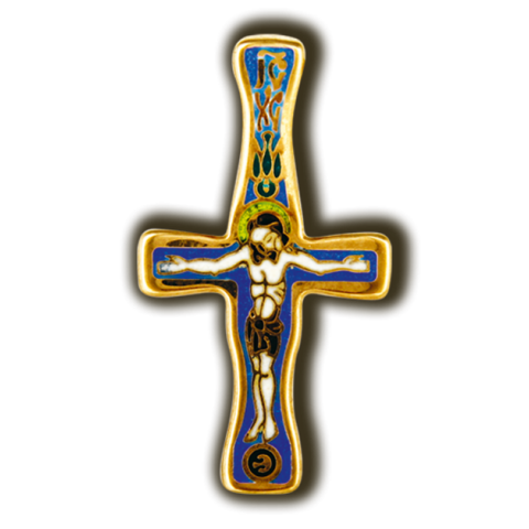 Распятие Христово. Православный крест. Эмаль.