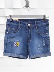 Q-8016 шорты женские, синие