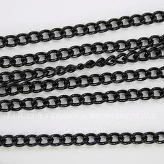 Цепь (цвет - черный никель), звено 3,2х2,2 мм